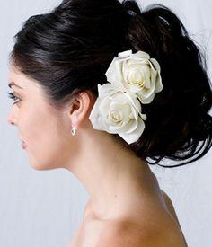 flower bridal hair