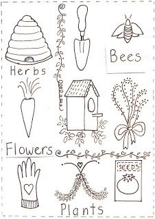 Down to Earth: free stitchery patterns...also a great blog with so much wonderful information on sustainability via house and yard
