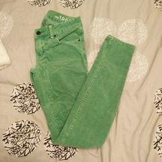 "Gap green corduroy skinnies Gap green corduroy skinnies, no tears or stains. Only worn a few times. Inseam is 31"". GAP Pants"