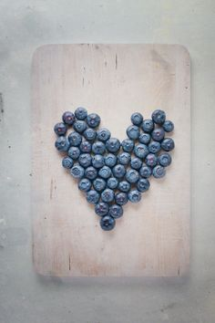 blueberry shaped heart