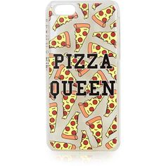 TOPSHOP **Pizza Queen iPhone 5c Case by Skinnydip ($21) ❤ liked on Polyvore featuring accessories, tech accessories, phone cases, phones, iphone, tech, multi and topshop