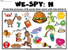 Find the Hidden Letter H  Letters Worksheets and Articles