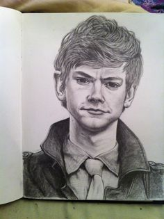 Drawing of Thomas Brodie-Sangster           HOW DO PEOPLE DO THIS WHEN I HAVE TROUBLE WITH WALKING UP MY SCHOOLS STAIRS!?!?!?!?!??!?!