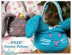 Crochet How To: Free Beginner Amigurumi Easter Bunny Basket Pattern – Easy! | MiscFinds4u