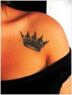 Tattoos Designs For Women Unique Crown Tattoo Design For Women - http://www.listtattoo.com/tattoos-designs-for-women-unique-crown-tattoo-design-for-women/?Pinterest