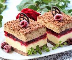 Serowo-malinowa delicja z cappuccino Unique Desserts, Delicious Desserts, Dessert Recipes, Yummy Food, Cake Recept, Chocolate Raspberry Cake, Chocolate Cake, Salty Cake, Polish Recipes