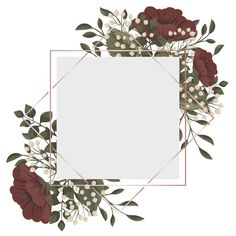 Marco floral rojo flores rojas y blancas. Flower Background Wallpaper, Framed Wallpaper, Flower Backgrounds, Background Patterns, Red And White Flowers, Light Blue Flowers, Floral Flowers, Fond Design, Flower Graphic Design