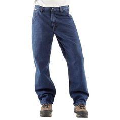 Carhartt FR Denim Dungaree Jeans HRC2 Men's Size 30 x 36  Flame Resistant Jeans #Carhartt #OriginalFit
