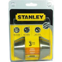 STANLEY DOUBLE CYLINDER DEADBOLT SS-S836007