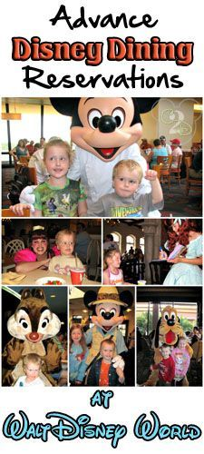 If you are planning on dining on Walt Disney World property, it's in your party's best interest to be dining with advance Disney dining reservations (called ADR).