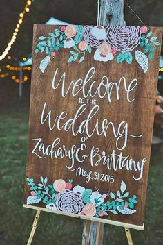 24 Most Popular Rustic Wedding Signs Ideas