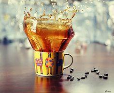 Cookie Splash Coffee Photography