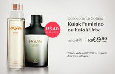 Desconto! Compre na minha Loja Online Natura www.rede.natura.net/espaco/edeniaborges  os desodorantes colônia Kaiak com 36% OFF e economize R$ 40. Promoção válida de 26/09 a 02/out.