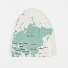 map beanie, from mokkasin