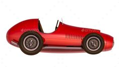 Retro sport racing car 3D render. Isolated. Digital generated image. Include JPEG and transparent PNG.