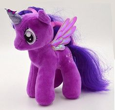 19cm Minecraft My Cute Lovely Little Horse Plush Toys PP Cotton Poni Doll Toys for Children Toys Colorful Rainbow Color Horse - (Purple) - Brought to you by Avarsha.com