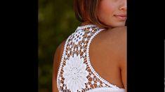 Love this lace inset Débardeurs Au Crochet, Mode Crochet, Crochet Motifs, Crochet Collar, Crochet Blouse, Irish Crochet, Crochet Stitches, Point Lace, Creation Couture