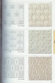 Dozens of beautiful intricate patterns knitting - no instructions, just charts