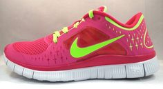 Τα θέλω τώρα.-  Nike Free Run+ 3 WOMEN'S Running Shoe Run 510643-601 Fireberry/Electric Green | eBay