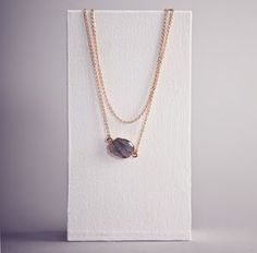 Zelda Labradorite Gold Plated Necklace. Discover the latest, trend-led jewellery from the UK's best small creative businesses.