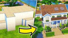 Sims 4 House Building, Sims House Plans, Sims 4 House Design, Casas The Sims 4, Sims Ideas, Minecraft Architecture, Weekend Projects, Sims Cc, Decoration