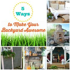 DIY Home Ideas to make your backyard landscaping more inviting and create an outdoor living space you will have fun in. Backyard ideas for creating a backyard you will love! Backyard Projects, Easy Diy Projects, Backyard Patio, Backyard Landscaping, Backyard Ideas For Small Yards, Dollar Store Crafts, 5 Ways, Beautiful Gardens, Make It Yourself