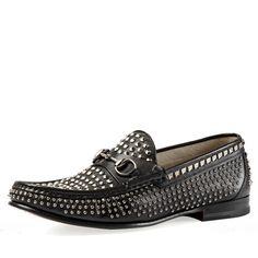 7089c6d3aa8 FootGift Men Rivet Decoration Slip On Black. Onlymaker Shoes