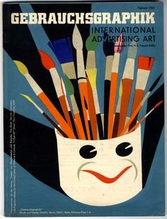 Cover for Gebrauchsgraphik Magazine - Founded in 1924 in Berlin by professor H.K. Frensel, Gebrauchsgraphik (Commercial Graphics)  was one of the first European journals devoted to graphic design, advertising and related subjects  such as illustration and typography. This monthly magazine was published bilingually in German and English, and showcased a variety of high quality, innovative ads, posters and other graphics to an international audience. - The Animalarium