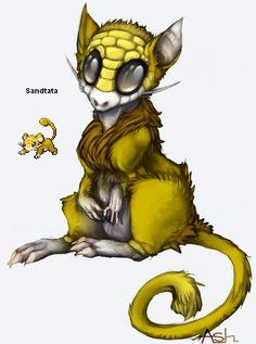 Pokemon Pokefusion Sandtata by AccursedAsche CLICK TO VOTE FOR SANDTATA
