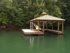 Signature Style Dock with Cedar Shake Hip Roof and Cupola