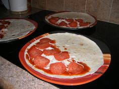 pizza quesadillas, kid friendly and you throw it together in a flash!