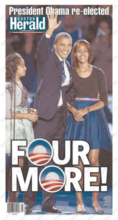 Obama's Re-Election Lead Newspaper Front Pages