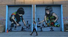 La guerre pour les enfants, un jeu ? / Street Art. / By Icy and Sot.