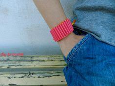 d.i.y straw  bracelet