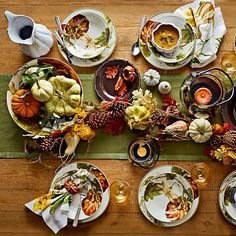 Botanical Pumpkin Dinner Plates Williams-Sonoma