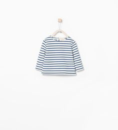 Image 1 of Organic cotton striped t-shirt from Zara