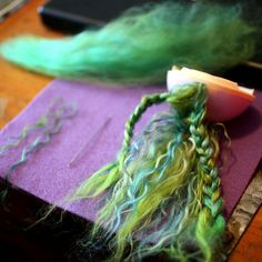 Alpaca and Mohair - discussion and how to use. Actually gives me ideas for unfurled ribbons in different colors.