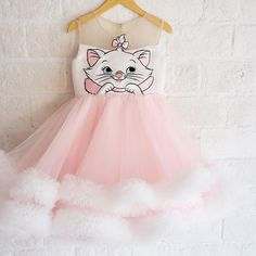Children S Clothing Cheap Prices Key: 9694456922 Cat Dresses, Little Girl Dresses, Flower Girl Dresses, Little Girl Fashion, Kids Fashion, Aristocats Party, Honey Bee Kids, Robes Disney, Marie Cat