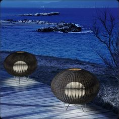 The Garotas by Bover are part of a diverse collection of outdoor lamps that create unique environments and contain a common concept: the shade in the form of a sea urchin Outdoor Floor Lamps, Outdoor Flooring, Outdoor Lighting, Italian Lighting, Modern Lighting, Lighting Design, Modern Light Fixtures, Outdoor Light Fixtures, Round Lamp Shade