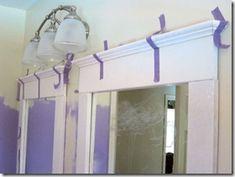 updating plain bathroom mirrors