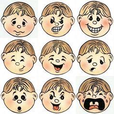 Imprime y recorta las caras para adjuntarlas en su recuadro correspondiente.