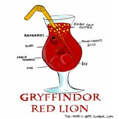 Hogwarts House Drinks | Gryffindor | Red Lion | This sounds a lot better than the last Red Lion recipe I tried!