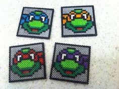 Teenage Mutant Ninja Turltle Perler Bead Coasters by KezCreations