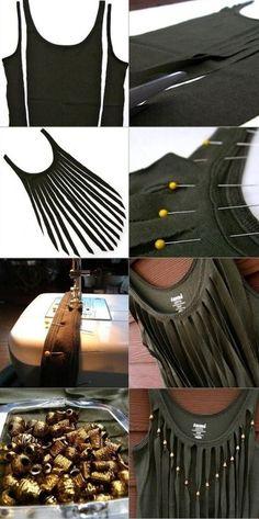 Steps by Steps to Make DIY Fringe Top