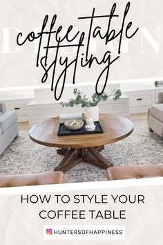 After I posted about our new coffee table a few weeks ago, I had a TON of requests for tips on how to style a coffee table. There are so many right ways to do it but I'll share the tricks I use! There are 4 main things I play with when styling a coffee table (or any table really!) All of these areas fall under the bigger umbrella of color scheme, so make sure you have that nailed down before you begin. #coffeetablestyling #familyroom #homedecor Apartment Decorating On A Budget, Rental Decorating, Family Room Decorating, Decorating Tips, Decorating Your Home, Living Room On A Budget, Cozy Living Rooms, Interior Design Guide, Living Room Furniture Arrangement