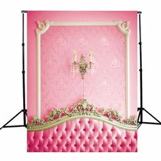 3x5ft Vinyl Photography Background Pink Bed Headboard Photographic Backdrops For Studio Photo Props 90 x 150cm Cloth