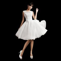 Agnes Bridal Dream Penny Knee Length Polka Dot Wedding Dress - £965.00