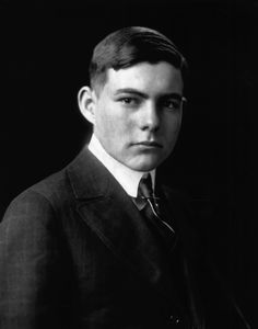 Portrait of Ernest Hemingway as a young man. 15 February 1916