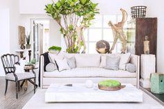 Modern, classic textural living room