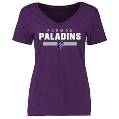 Furman Paladins Women's Team Strong Slim Fit T-Shirt - Purple
